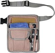 Restaurant Server Apron for Waiter Waitress Utility Belt Fanny Pack Pocket Organizer for Guest Book, Tablet, W