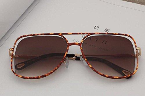 Metal Marco de RDJM Opcional Lentes y Estilo Gafas de Sol b Multicolor Irregulares Americano Mujer Sol b uv400 Gafas de Europeo para OwFSOqPx