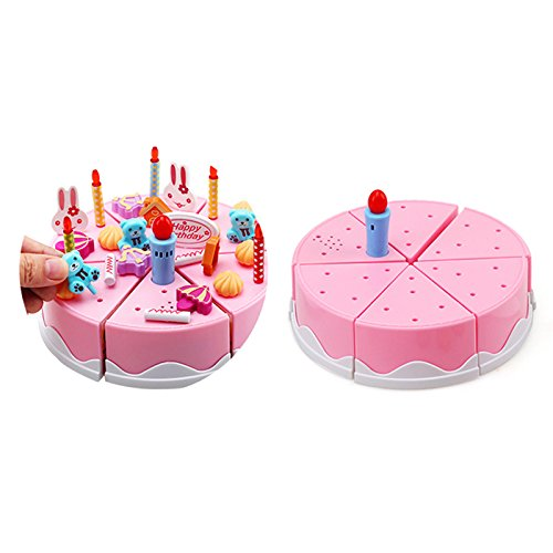 Lovely Birthday Cake With Candles Toys Kitchen Pretend Cutting Play Food Set AHZZY