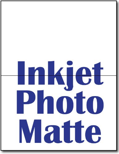 Photo Matte Half Fold Greeting Cards 100 Cards