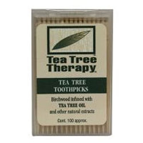 (Tea Tree Therapy Toothpicks, 100 ct by Tea Tree Therapy (Pack of 2))