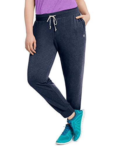 Champion Women's Plus Size French Terry Jogger, Navy El Heather, 1X