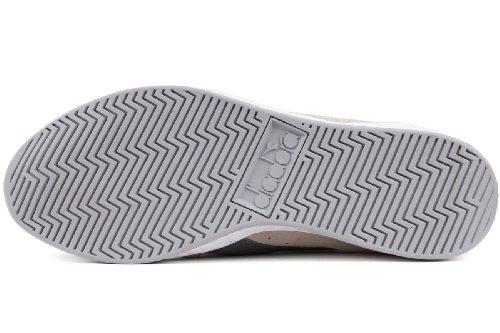 Diadora White Steel II Game Whisper Mens Suede Grey Sneaker rpnYcrZW