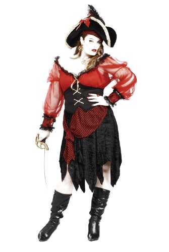 Pirate Lass Adult Costumes (Forum Novelties Women's Plus-Size Buccaneer Beauty Pirate Costume, Multi, Plus)