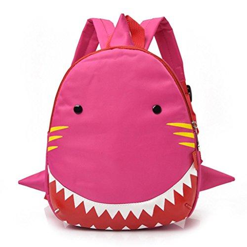 Cinhent Backpacks Baby Kid Shark Animals Cute Toddler Boys Girls Mini School Bag (Pink)