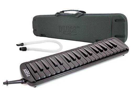 DLuca-M37-EVA-BK-Black-37-Key-Jungle-Melodica-with-EVA-Carrying-Case