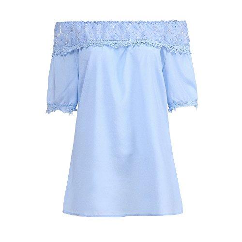TJ Mall ベストセラー女性の大きなサイズのレースエレガントなストラップレスルーズ半袖シャツレトロシャツ
