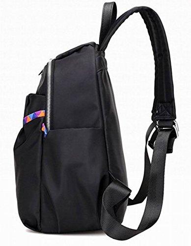 randonnée Nylon Daypacks Femme Décontractée AalarDom de Zippers Noir Mode tw0nxU6q