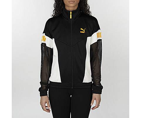 PUMA Women's Flourish Touch of Life Jacket Puma Black/Whisper White X-Small