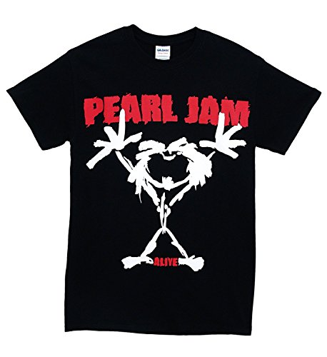 Pearl Jam 'Stickman' Men's 2-Sided T-Shirt, Black ()