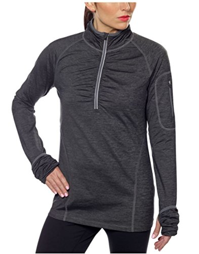 Kirkland Signature Womens Active 1/4 Zip Ruffled Pullover (L, ()