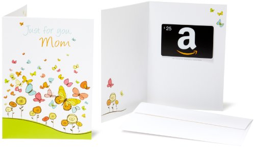 Amazon.com $25 Gift Card in a Greeting Card (For Mom Design) (Gift Card Amazon Mom)