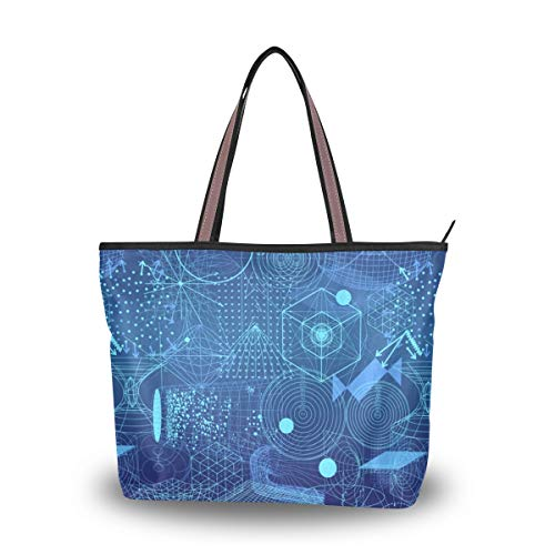 Tote Bag With Abstract...