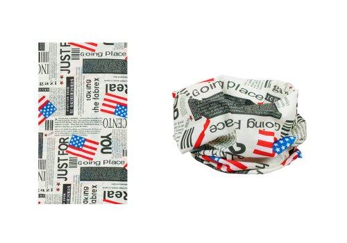 Bundle Monster 6pc Seamless Style Bandanna Headwear Scarf Wrap - Mixed Sets