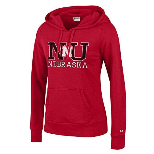 - Champion NCAA Nebraska Cornhuskers Women's University Fleece Hoodie, Large, Scarlet