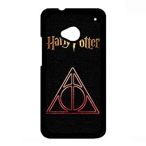 Deathly Hallows Logo Harry Potter Phone Case For Htc One M7,Harry Potter Htc One M7 Case,Black Hard Plastic Case
