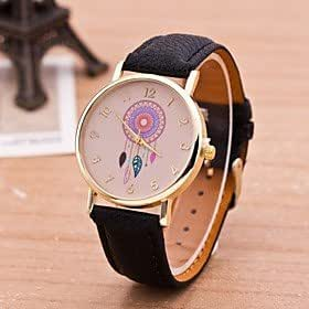 Porch-O Dreamcather Women Quartz Watches Reloj Mujer Relogio Feminino Leather Strap Wristwatch