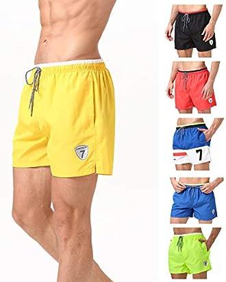 07f9ac0517 Lapulas Mens Boys Swim Trunks Beach Board Shorts Bathing Swimsuits Quick  Dry with Mesh Lining (