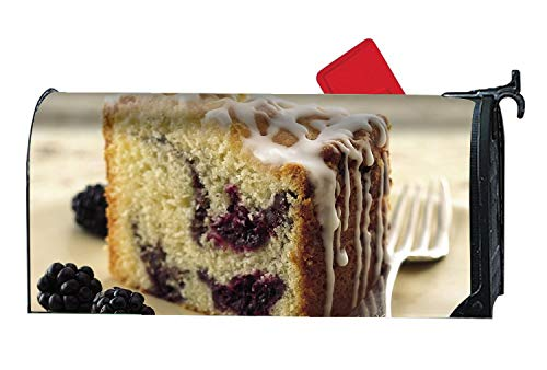 (FunnyLife Home Mailbox Wrap Dessert A Piece of Cake Berries Fork Four Seasons Magnetic Mailbox)