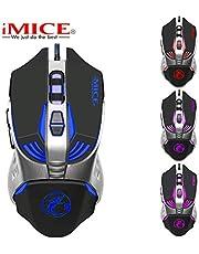 Ayete Ratón Gaming Ratones Gaming Programable 2400 dpi Ratón Gamer Ergonómico Óptico Gaming Mouse Wired para PC/Ordenadores Portátil/Mac