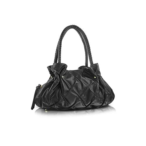 Fontanelli Women's 5057 Black Leather Shoulder Bag