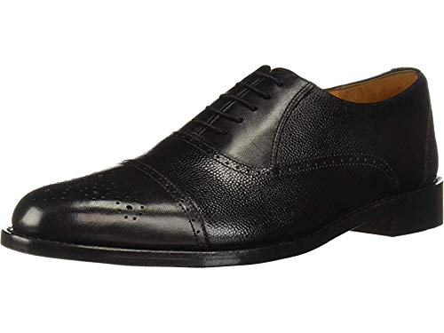 Carlos by Carlos Santana Men's Woodstock Oxford, Black Leather, 10.5 D US ()
