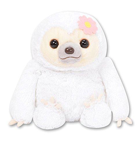 Amuse 251924B Namakemono No Mikke &Amp; Friends Sloth Large Plush Collection - Fuuko White -
