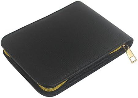 Zoohot Bolígrafo pluma bolígrafo Estuche de cuero pu para 12 plumas (Black): Amazon.es: Oficina y papelería