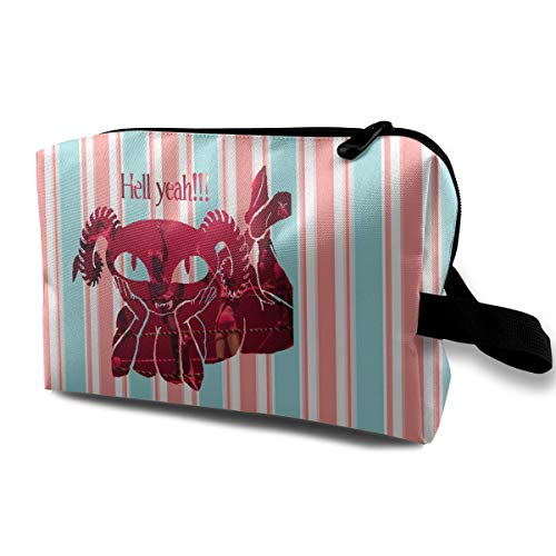 Latoshachase Women's Puscifer Music Band Fabric Travel Cosmetic Bag Makeup Bags with Zipper Gift