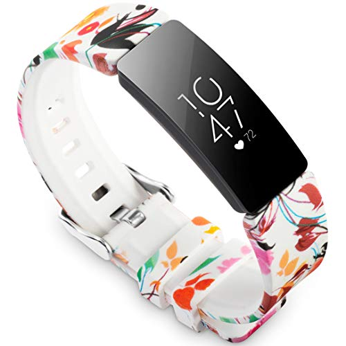 Ace Print - Allbingo Cute Bands Compatible with Fitbit Inspire HR & Inspire & Ace 2, Women Men Floral Print Replacement Strap Accessories Wristband Small Large for Inspire HR & Inspire