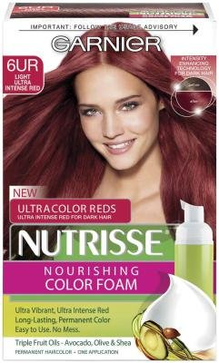 Garnier Nutrisse Nourishing Color Foam - 6UR Light Ultra Intense Red (Pack of 3) ()