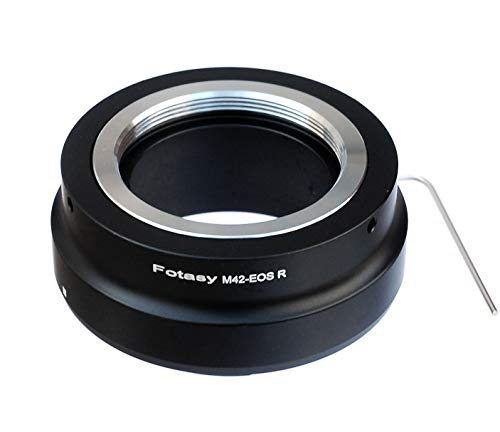 Fotasy M42 Lens to Canon EOS R Mount Adapter, M42 EOS R, M42 RF Adapter, M42 EOS R Adapter, M42 EOS RP Adapter, fits M42 42mm Screw Mount Lens & Canon EOS R Mirrorless Camera EOS R/EOS RP