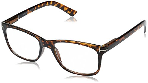 OPTX 20/20 Unisex-Adult Optx 20/20 Vue+100 Demi Tortoise VUE+100DEMI Oval Reading Glasses, Demi Tortoise, - Glasses Vue