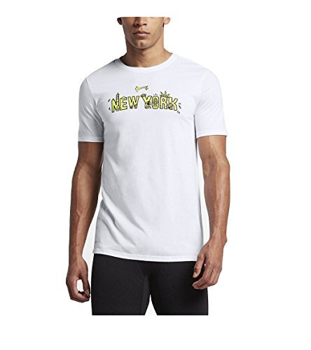 - Nike Men's New York, are We Running Today? Crew Neck Graphic T-Shirt 943043-100 White/Neon Green (Large)