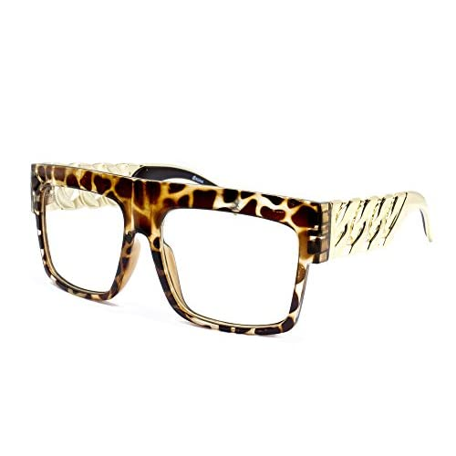 d0092f4fd993 Newbee Fashion - Thick Frame Rapper 80 s 90 s Retro Design Clear Lens Frames  on sale