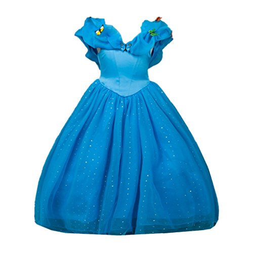 [DreamHigh Cinderella Butterfly Party Girls Costume Dress Size 9-10 Years] (Cinderella Costumes For Girl)