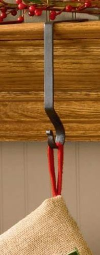 Park Designs Black Iron Christmas Stocking Hanger (Stocking For Mantle Hooks Christmas)