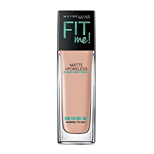 Maybelline New York Fit Me Matte Plus Poreless Foundation Makeup, Nude Beige, 1 Fluid Ounce