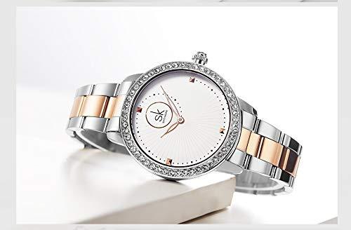 Elegante Dial Reloj De Pulsera para Mujer Reloj De Acero ...