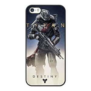 Wunatin Hard Case ,iPhone 5 5S Cell Phone Case Black Destiny Titan [with Free Tempered Glass Screen Protector]5691265309332