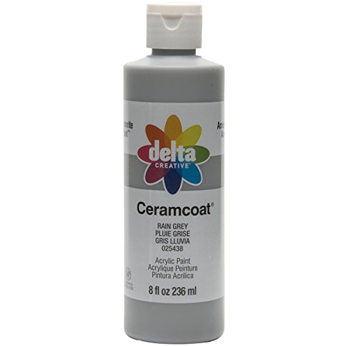 Delta Creative Ceramcoat Acrylic Paint in Assorted Colors (8 oz), 025438, Rain Gray
