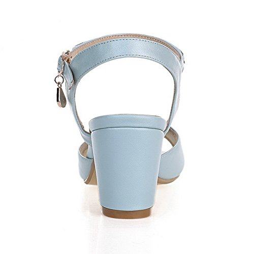 B Fashion US 8 Solid Soft Material Sandals Girls 1TO9 Blue M qE6wxC8H8