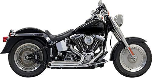 Bassani Y-pipe - Bassani Xhaust 98-17 Harley FLSTC Pro Street Turn Out Exhaust (Chrome)