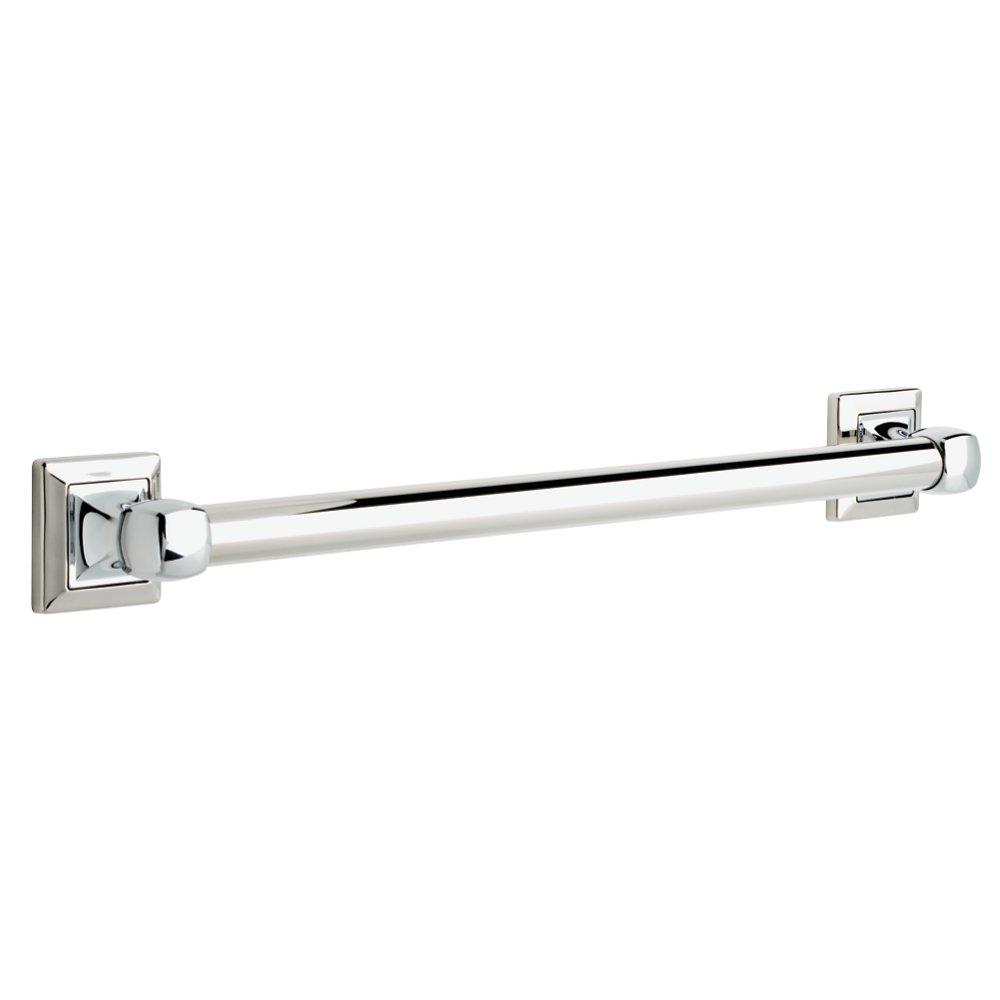 DELTA DSQ5924-PC Harvard Square 24'' x 1 1/4'' Decorative Bathroom Safety Grab Bar, Polished Chrome