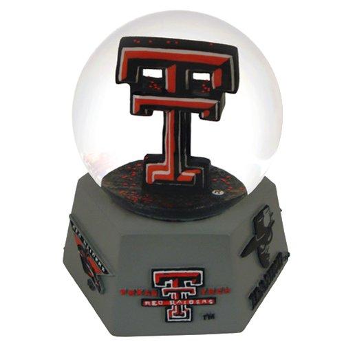 NCAA Texas Tech Red Raiders Logo Musical Snow (Texas Musical Globe)