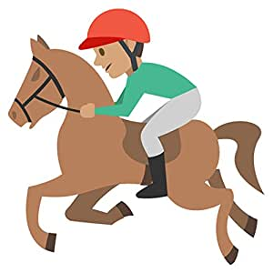 Horse Racing Tone 3 Emoji Metal Sign