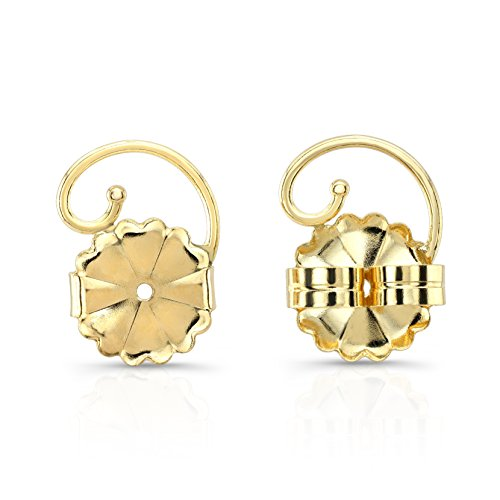 Levears 14K Yellow Gold Pierced Ear Lobe Earring backs Lifts Support Post/Stud 14k Yellow Gold Pierced Earrings