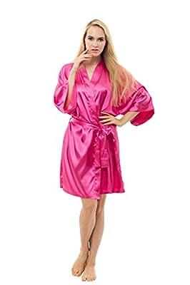 ABC-STAR Women's Solid Color Elegant Design Kimono Robes, Short