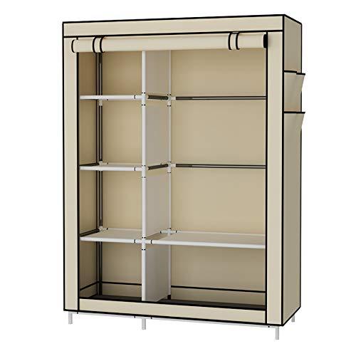 UDEAR-Armario-Closet-Organizador-Plegable-para-Ropa-Ropero-Resistente-al-Polvo-Guardarropa-Beige-105-x-45-x-170-CM