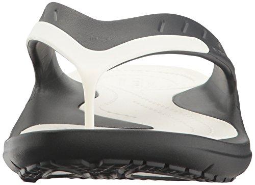 Modi Sandalias Crocs Flip Flop Sport Blanco Negro Unisex Adulto 1xxfwda